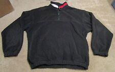 RARE Vintage Tommy Hilfiger 1/4 Zip Fleece Jacket Color Block Spellout Men's XL