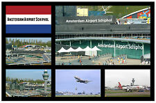 AMSTERDAM, AIRPORT, SCHIPHOL - SOUVENIR NOVELTY FRIDGE MAGNET - NEW - GIFT