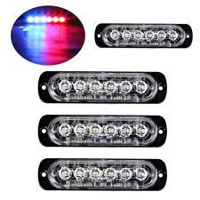 4Pc Blue/Red 6LED Car Truck Emergency Warning Hazard Flash Strobe Light
