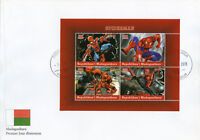 Madagascar 2018 FDC Spiderman 4v M/S Cover Marvel Comics Superheroes Stamps