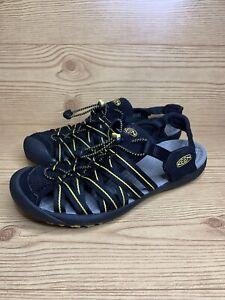 Keen Kuta Sandals Water Shoes Hiking - Black /Yellow Size 10