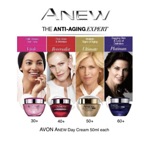 Avon Anew Anti-Aging Day Creams 50ml & Travel Size15ml ~ Free P&P ~ Great Gift
