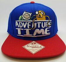 "Adventure Time Finn and Jake Snapback Hat/Cap – Blue/Red ""New"""