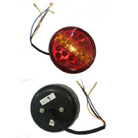 REAR ROUND HAMBURGER TAIL LAMP LIGHT LORRY TRUCK CAR VAN TRAILER 12V 20 LED UK