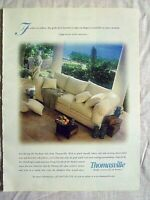 2000 Magazine Advertisement Ad Page For Thomasville Furnature Sofa Couch Ad