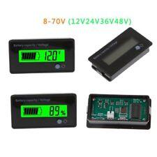 12V 24V 36V 48V 8-70V LCD Acid Lead Battery Capacity Voltage Tester Voltmeter