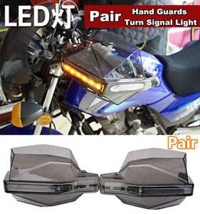 Dirtbike ATV Handguard Guards With LED Turn Signal Light For Suzuki Honda Yamaha