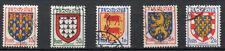 France 1951   n° 899 à 903   oblitérés - série complète