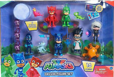 Genuine PJ Masks Deluxe 16 Action Figure Set Poseable Figures  Brand New