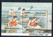 O/ 26;  Laos;  Olympiade 1992, Block postfr.**