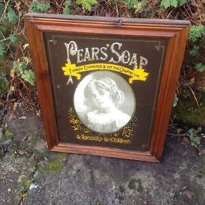 A Decorative Vintage Pears Soap Advertising Mirror 53 cm x 43 cm.