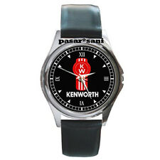 NEW KENWORTH TRUCKS Custom Round Metal Leather Men's Watch Watches