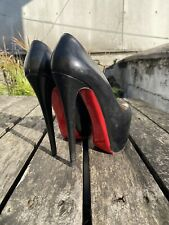 100 % Authentic Black CHRISTIAN LOUBOUTIN Daffodile 160 Kid size 37.