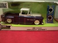 Jada 1955 Chevrolet Stepside  pickup w/extra wheels 1:24 Scale nib