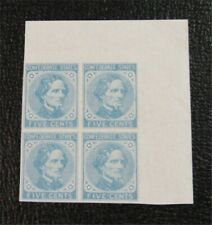 nystamps US CSA Confederate Stamp # 6 Mint OG NH $85 Block Of 4    N20x1086