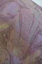 Antique c1850 woven wool & silk  paisley Crinoline shawl. Greens, pink & lilac.