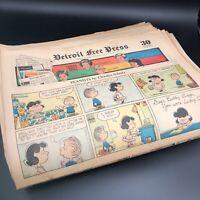 95 x Sunday Comics Strips 1971 - 1974 Detroit Free Press Newspaper Wholesale Lot