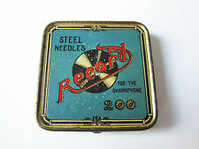 DeutscheGrammophon ago BARATTOLO record Steel Needles-con aghi! Gramophone Needle Tin