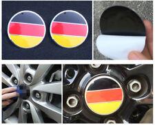 4X German Flag Logo Auto Wheel Center Hub Caps Sticker Emblems For VW Polo