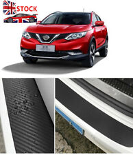 For NISSAN QASHQAI 2014-19 Rear Kick Plates Sill Protector guards CARBON FIRBER