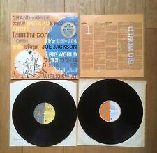 JOE JACKSON - BIG WORLD 2x Vinyl LP + Lyric Insert JWA 3  best