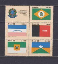 s19080) BRASILE BRAZIL  MNH** Nuovo** 1982  Flags 6v