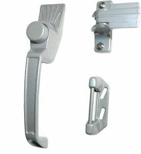 Screen Door Handle Set Latches Aluminum Silver Push Button Storm Latche Hardware