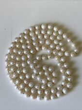 Vintage Hand Knotted South Sea Akoya Pearl Necklace
