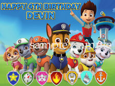 PAW PATROL Edible CAKE Topper ICING Image Decoration Personalized FREE SHIPPING