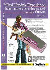 JIMI HENDRIX Digitech pedal  UK magazine ADVERT / Poster 11x8 inches