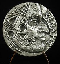 Médaille Iannis Xenakis compositeur musique stochastique: architecte grec medal