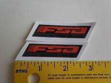 "FSA sticker 2.5"" x 0,5""  bike bicycle 2 die cut decal stickers"