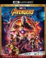 Avengers: Infinity War (4K Ultra HD, Blu-ray, Digital HD) NEW With Digital Copy
