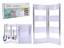 Plegable Pendientes Collar Joyería Organizador Soporte de exhibición 72 bucles titular ordenado