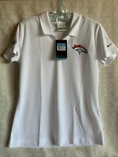 Denver Broncos football Nike Golf polo ladies size medium NWT