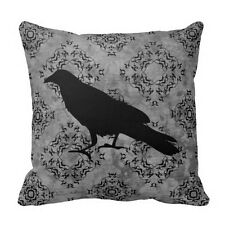 Gothic Halloween crow raven Pillow Case Decor Throw Pillowcase Cushion Cover New