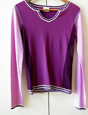 Funky Block Colour Jumper in Purple/Pink  from Next - Size 8