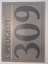 Peugeot 309 Gama Orig 1991 Reino Unido Mkt folleto de ventas-Inc Gti