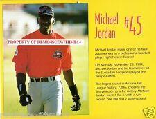 RARE 1995 TUCSON TOROS CALENDAR - MICHAEL JORDAN - MINOR LEAGUE BASEBALL