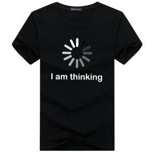 I AM THINKING T Shirt Browsing Processing Theme Funny Tee Shirt High Quality Top