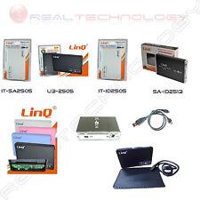 """CASE BOX ESTERNO 2.5"""" SATA/IDE,SATA,IDE USB 2.0/3.0 PER HARD DISK LINQ"""