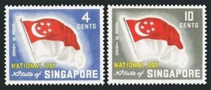 Singapore 49-50,MNH.Michel 49-50. National Day 1960. State flag of Singapore.