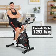 Exercise Bike Cardio Workout W/Belt Driven Flywheel Monitor Heart Rate Sensors