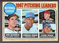 1968 Topps Baseball #9 NL ERA Pitching Leaders Ferguson Jenkins - SBID006