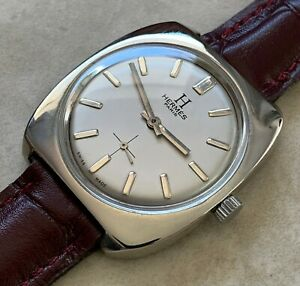VTG HERMES PARIS SILVER DIAL BIG SIZE NICKEL PLATED CASE FROM 1970 APROX.
