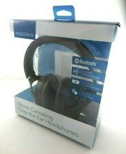 Insignia- Wireless Noise Canceling Over-the-Ear Headphones - Black NS-AHBTOENC