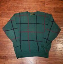 Sweater Green Golf Dad Sweater Mens XL Vintage Golfing XLarge