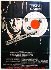 MAIGRET VOIT ROUGE Affiche Cinéma / Movie Poster JEAN GABIN GILLES GRANGIER 1963
