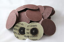 "25pc IIT 3"" Roloc Discs 80 GRIT R Type Sanding Abrasive Roll Lock Medium 82079"