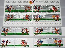 Cook Isl 1981 780-7 Block 116 Soccer World Cup 1982 MNH